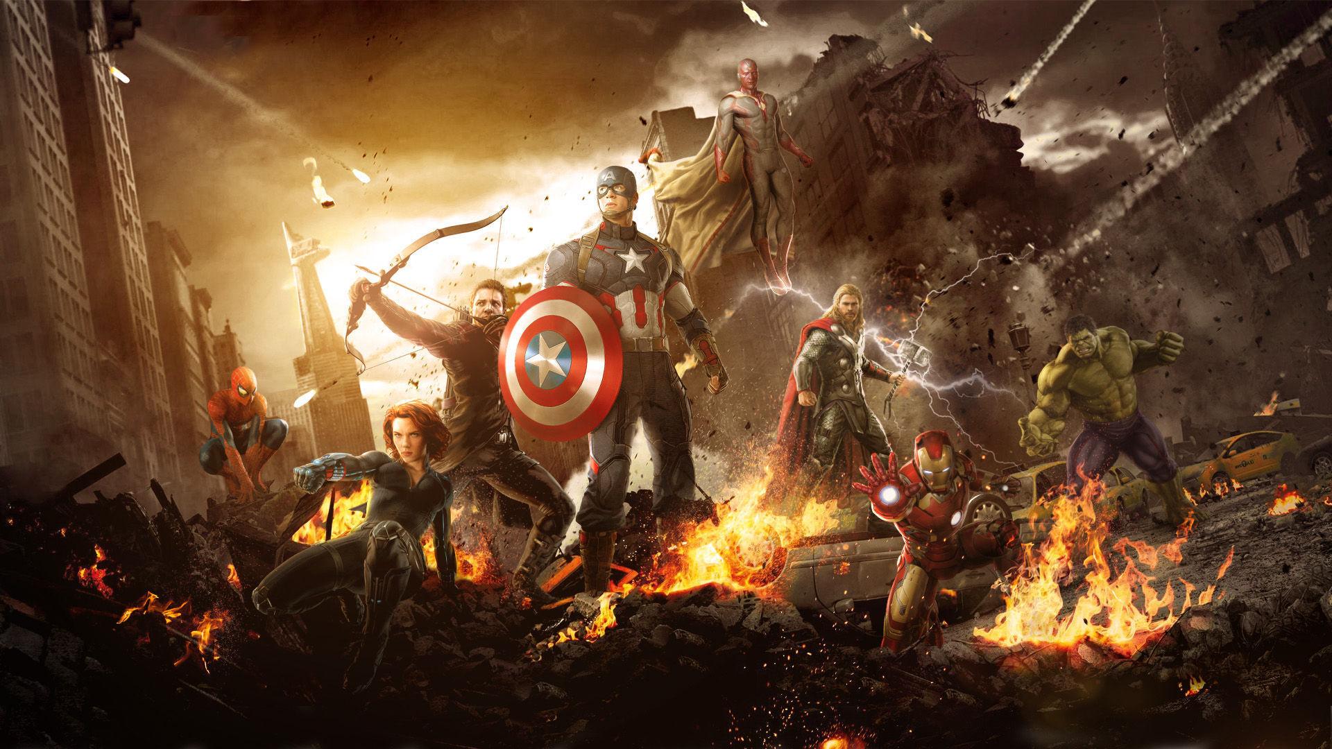 Fonds Décran Avengers Lère Dultron Maximumwall