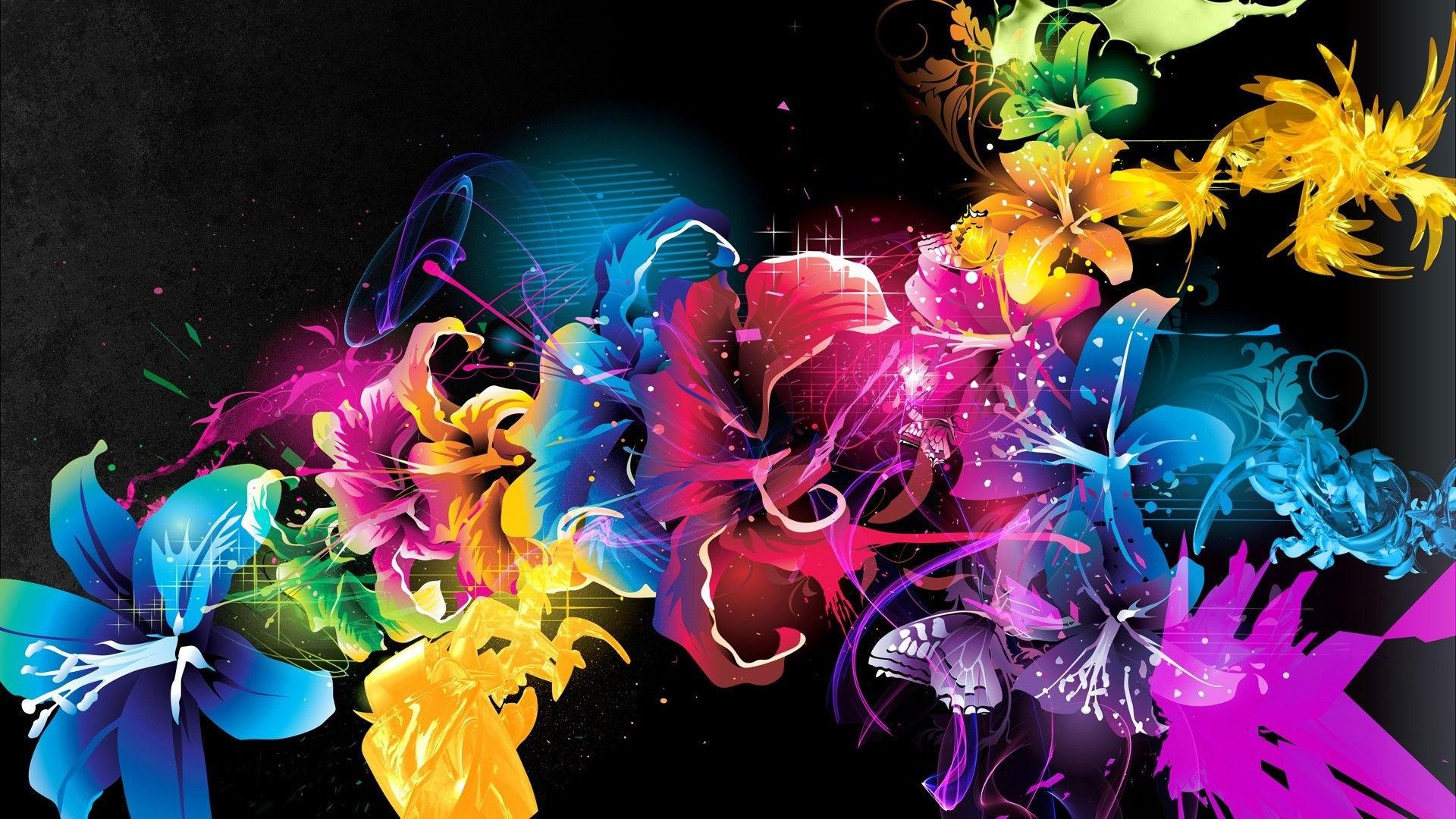 Fonds d 39 cran fleurs multicolores maximumwall for Fondos movibles para pc