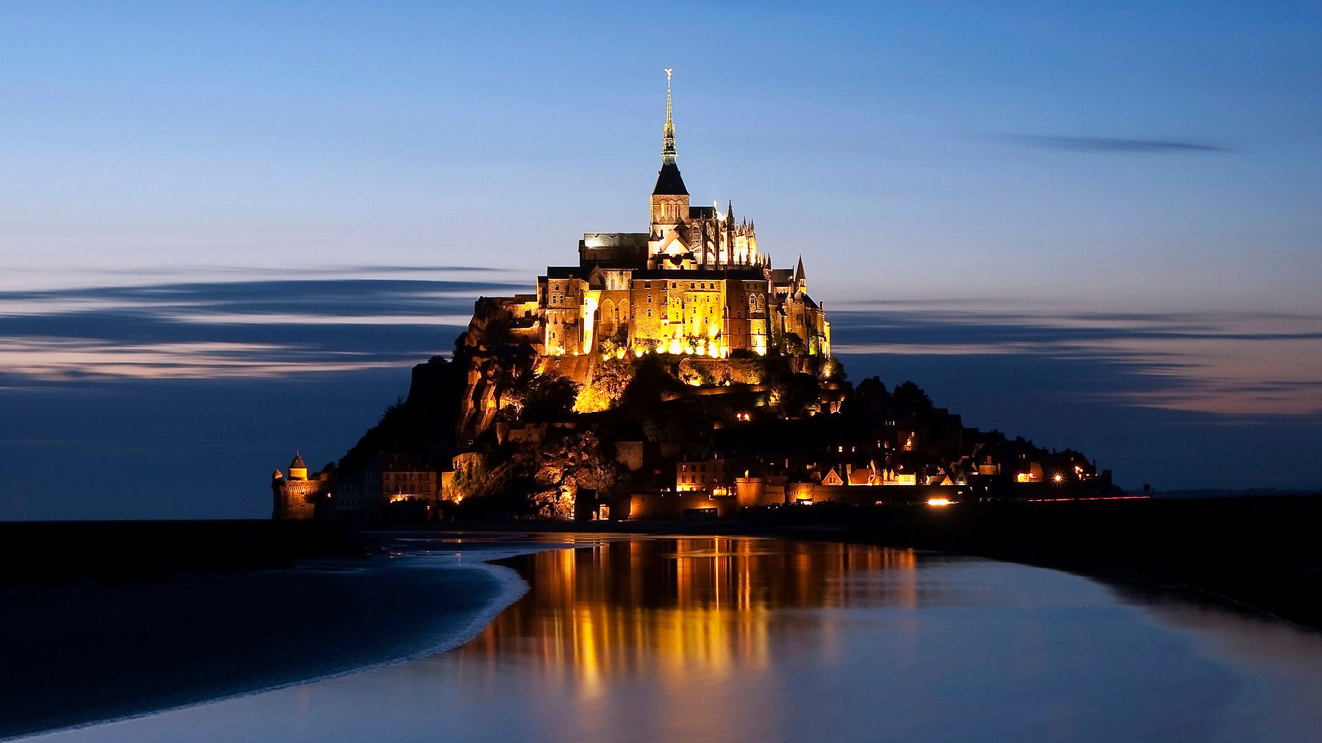 Fonds d 39 cran mont saint michel maximumwall for Fond ecran iphone paysage