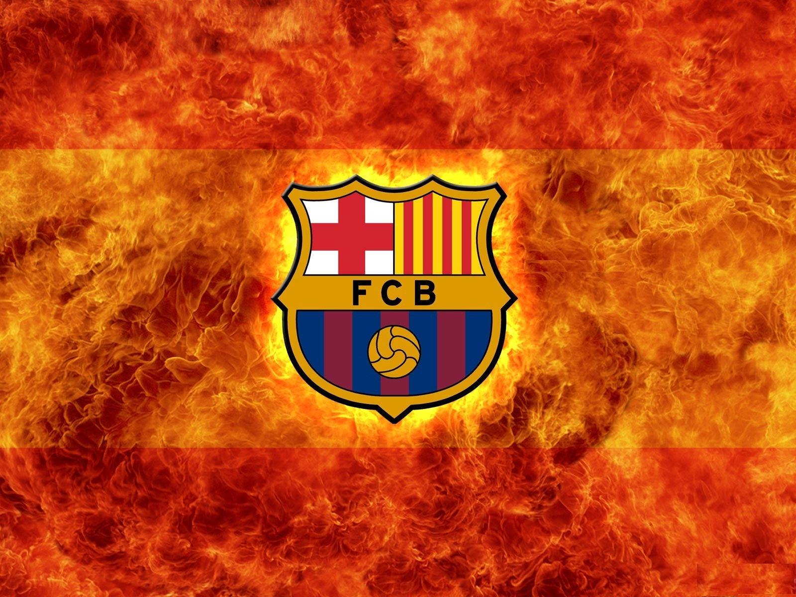 Fonds d 39 cran fc barcelone logo maximumwall - Logo barcelone foot ...