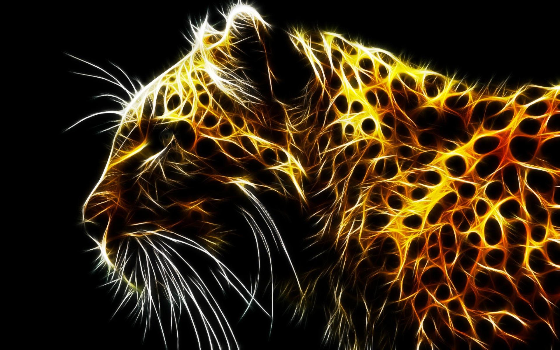 Digital Leopard Art Wallpapers: Fonds D'écran Abstrait Créature