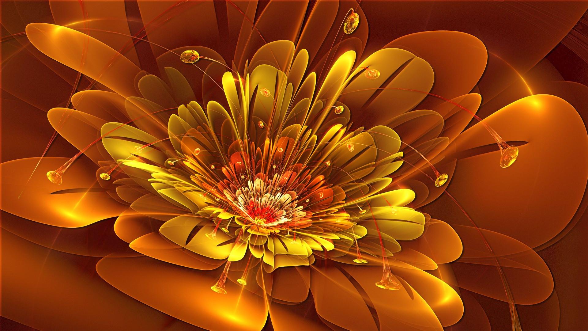 Wallpapers Abstrait Fleur - MaximumWall
